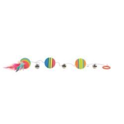 ZOLUX Zabawka dla psa Piłka ze sznura i kauczuku 8cm